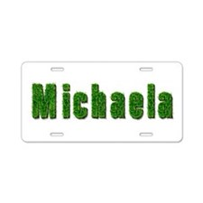 Michaela Grass Aluminum License Plate