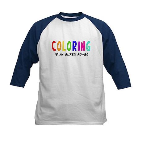 Super Power: Coloring Kids Baseball Jersey