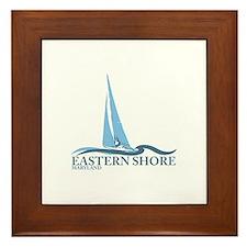 Eastern Shore MD - Sailboat Design. Framed Tile