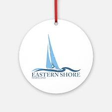 Eastern Shore MD - Sailboat Design. Ornament (Roun