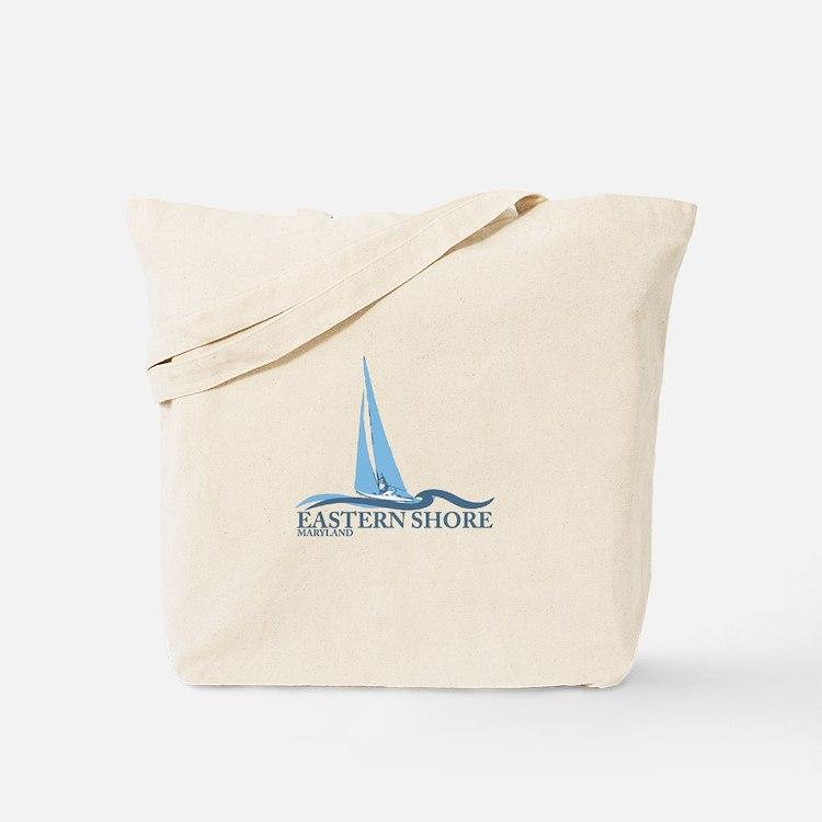 Eastern Shore MD - Sailboat Design. Tote Bag