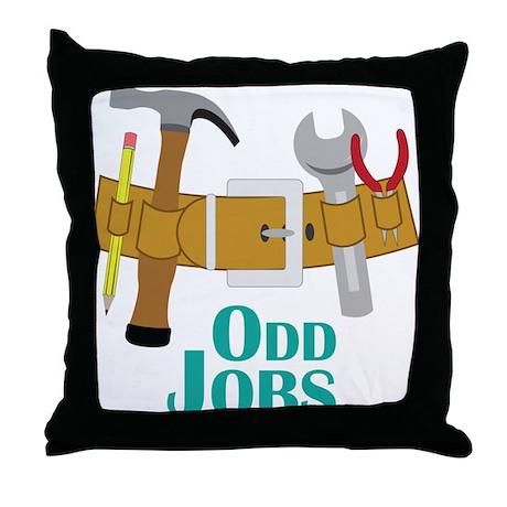 Odd Jobs Throw Pillow