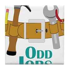 Odd Jobs Tile Coaster