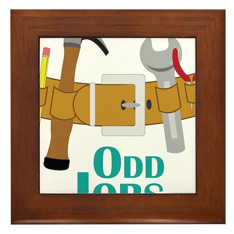 Odd Jobs Framed Tile