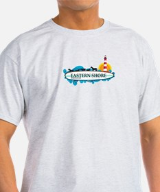 Eastern Shore MD - Surf Design. T-Shirt