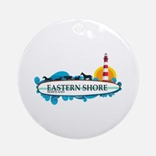 Eastern Shore MD - Surf Design. Ornament (Round)