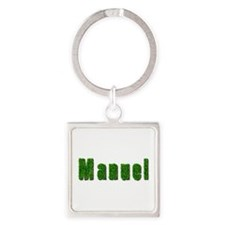 Manuel Grass Square Keychain