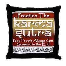 Karma Sutra Throw Pillow