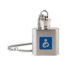 Cute Breastfeeding advocacy Flask Necklace