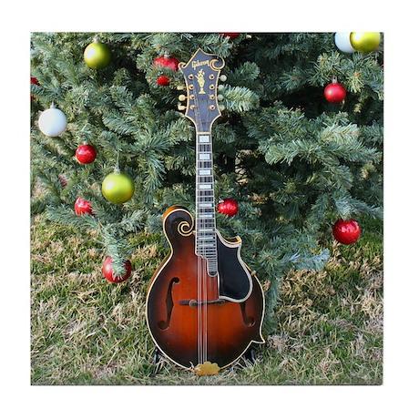Gibson Mandolin Under The Tree Tile Coaster