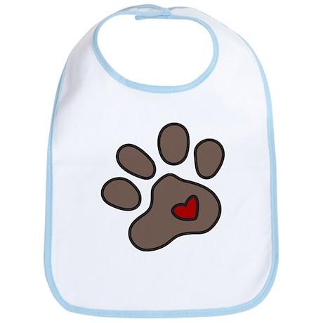 Puppy Paw Bib