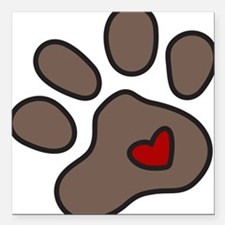 "Puppy Paw Square Car Magnet 3"" x 3"""