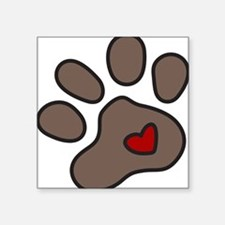 "Puppy Paw Square Sticker 3"" x 3"""