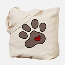 Puppy Paw Tote Bag