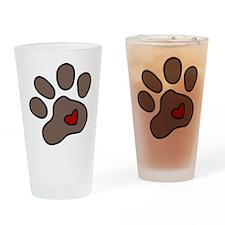 Puppy Paw Drinking Glass