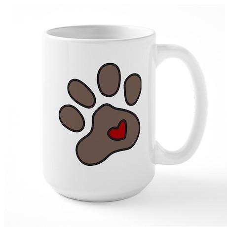 Puppy Paw Large Mug