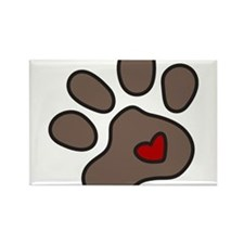 Puppy Paw Rectangle Magnet