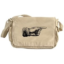 Old Fashioned Pointing Finger Messenger Bag
