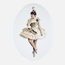 Victorian Ballerina Ornament (Oval)