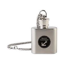 Sparrow Worshipper (circular) Flask Necklace