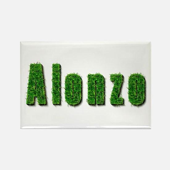 Alonzo Grass Rectangle Magnet