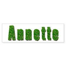 Annette Grass Bumper Bumper Sticker