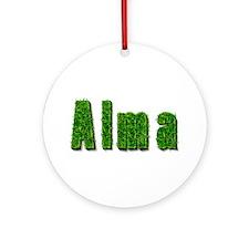 Alma Grass Round Ornament