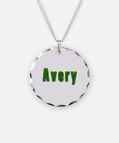 Avery Grass Necklace Circle Charm