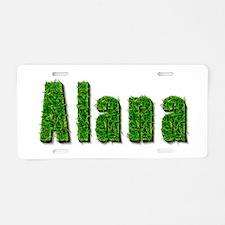 Alana Grass Aluminum License Plate