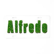 Alfredo Grass Aluminum License Plate