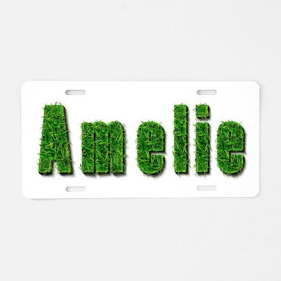 Amelie Grass Aluminum License Plate