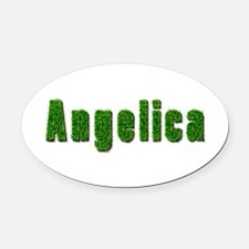 Angelica Grass Oval Car Magnet