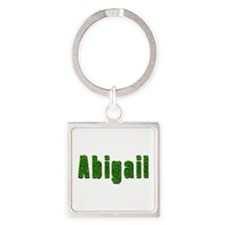 Abigail Grass Square Keychain