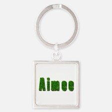Aimee Grass Square Keychain