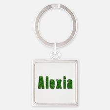 Alexia Grass Square Keychain