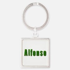 Alfonso Grass Square Keychain