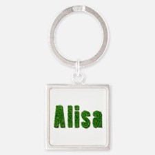 Alisa Grass Square Keychain