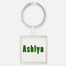 Ashlyn Grass Square Keychain
