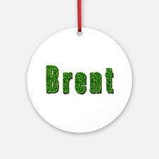 Brent Grass Round Ornament