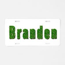 Branden Grass Aluminum License Plate