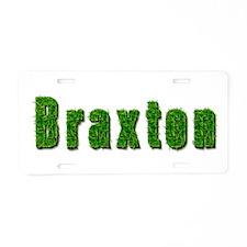 Braxton Grass Aluminum License Plate