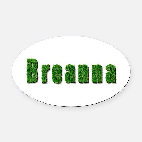 Breanna Grass Oval Car Magnet