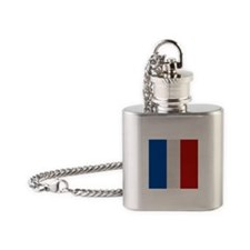 """France Flag"" Flask Necklace"