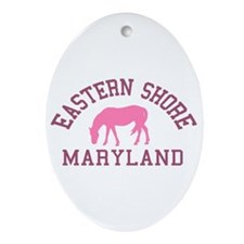 Eastern Shore MD - Ponies Design. Ornament (Oval)