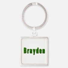 Brayden Grass Square Keychain
