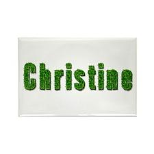 Christine Grass Rectangle Magnet