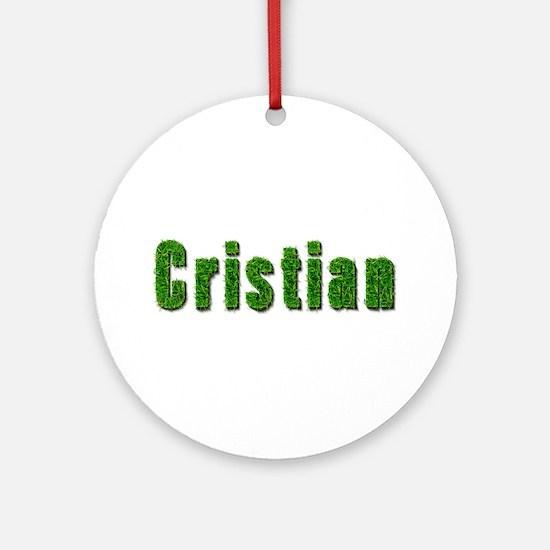 Cristian Grass Round Ornament