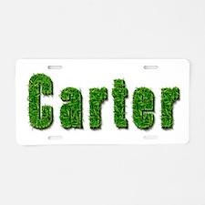 Carter Grass Aluminum License Plate