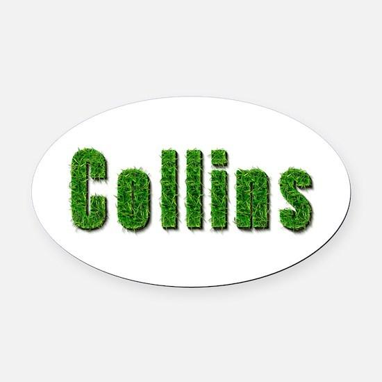 Collins Grass Oval Car Magnet