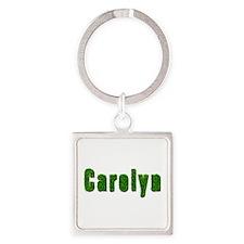 Carolyn Grass Square Keychain